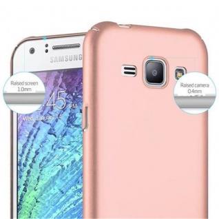 Cadorabo Hülle für Samsung Galaxy J1 2015 in METALL ROSE GOLD - Hardcase Handyhülle aus Plastik gegen Kratzer und Stöße - Schutzhülle Bumper Ultra Slim Back Case Hard Cover - Vorschau 5