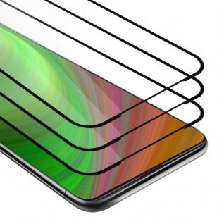 Cadorabo 3x Vollbild Panzer Folie für Xiaomi Mi 9T PRO - Schutzfolie in TRANSPARENT mit SCHWARZ - 3er Pack Gehärtetes (Tempered) Display-Schutzglas in 9H Härte mit 3D Touch