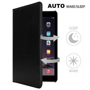 Cadorabo Tablet Hülle für Apple iPad AIR 2 2014 / iPad AIR 2013 in HOLUNDER SCHWARZ Book Style Schutzhülle mit Auto Wake Up mit Standfunktion und Gummiband Verschluss - Vorschau 2