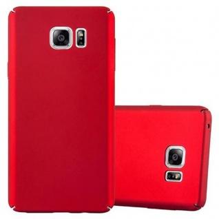 Cadorabo Hülle für Samsung Galaxy NOTE 5 - Hülle in METALL ROT ? Hardcase Handyhülle im Matt Metal Design - Schutzhülle Bumper Back Case Cover