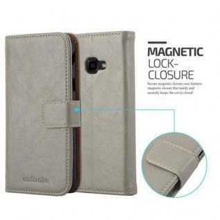 Cadorabo Hülle für Samsung Galaxy Xcover 4 in CAPPUCCINO BRAUN ? Handyhülle mit Magnetverschluss, Standfunktion und Kartenfach ? Case Cover Schutzhülle Etui Tasche Book Klapp Style - Vorschau 2