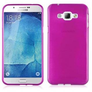 Cadorabo Hülle für Samsung Galaxy A8 2015 in PINK - Handyhülle aus flexiblem TPU Silikon - Silikonhülle Schutzhülle Ultra Slim Soft Back Cover Case Bumper