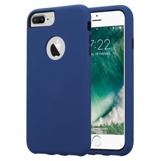 Cadorabo Hülle für Apple iPhone 7 PLUS / 7S PLUS / 8 PLUS in DUNKEL BLAU Hybrid Handyhülle mit TPU Silikon Innenseite und 2teiliger Kunststoff Außenseite Schutzhülle Hybrid Hardcase Back Case