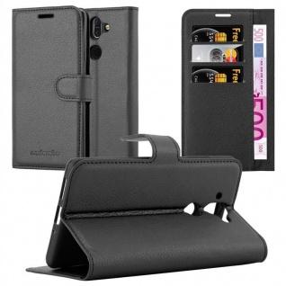 Cadorabo Hülle für Nokia 8 Sirocco in PHANTOM SCHWARZ Handyhülle mit Magnetverschluss, Standfunktion und Kartenfach Case Cover Schutzhülle Etui Tasche Book Klapp Style