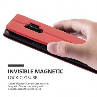 Cadorabo Hülle für Samsung Galaxy S9 in SAFRAN ROT - Handyhülle mit Magnetverschluss, Standfunktion und 2 Sichtfenstern - Case Cover Schutzhülle Etui Tasche Book Klapp Style - Vorschau 5