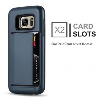 Cadorabo Hülle für Samsung Galaxy S7 - Hülle in ARMOR DUNKEL BLAU ? Handyhülle mit Kartenfach - Hard Case TPU Silikon Schutzhülle für Hybrid Cover im Outdoor Heavy Duty Design - Vorschau 2