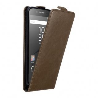 Cadorabo Hülle für Sony Xperia Z5 in KAFFEE BRAUN - Handyhülle im Flip Design mit unsichtbarem Magnetverschluss - Case Cover Schutzhülle Etui Tasche Book Klapp Style