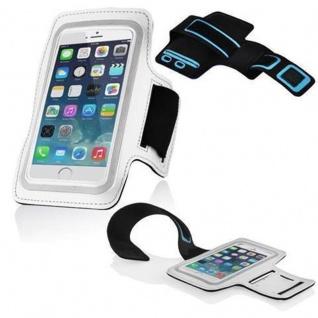 Cadorabo - Neopren Smartphone Sport Armband Fitnessstudio Jogging Armband Oberarmtasche kompatibel mit 4.5 - 5.0 Zoll Handys wie z. B. Apple iPhone 6 / 6S, 8 / 7 / 7S, Samsung Galaxy A3, HTC ONE A9 usw. mit Schlüsselfach und Kopfhöreranschluss in WEI