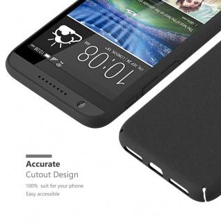 Cadorabo Hülle für HTC Desire 820 in FROSTY SCHWARZ - Hardcase Handyhülle aus Plastik gegen Kratzer und Stöße - Schutzhülle Bumper Ultra Slim Back Case Hard Cover - Vorschau 3