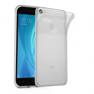 Cadorabo Hülle für Xiaomi Red Mi NOTE 5A PRIME in VOLL TRANSPARENT - Handyhülle aus flexiblem TPU Silikon - Silikonhülle Schutzhülle Ultra Slim Soft Back Cover Case Bumper