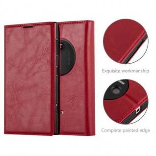 Cadorabo Hülle für Nokia Lumia 1020 in APFEL ROT - Handyhülle mit Magnetverschluss, Standfunktion und Kartenfach - Case Cover Schutzhülle Etui Tasche Book Klapp Style - Vorschau 2