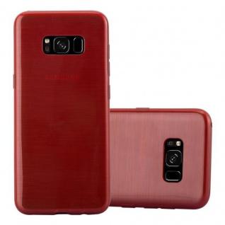 Cadorabo Hülle für Samsung Galaxy S8 in ROT - Handyhülle aus flexiblem TPU Silikon - Silikonhülle Schutzhülle Ultra Slim Soft Back Cover Case Bumper - Vorschau 1