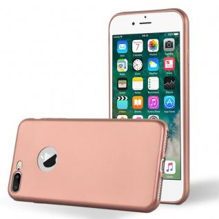 Cadorabo Hülle für Apple iPhone 8 PLUS / iPhone 7 PLUS / iPhone 7S PLUS in METALLIC ROSE GOLD - Handyhülle aus flexiblem TPU Silikon - Silikonhülle Schutzhülle Ultra Slim Soft Back Cover Case Bumper