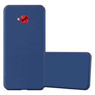 Cadorabo Hülle für Asus ZenFone 4 Selfie PRO in METALL BLAU Hardcase Handyhülle aus Plastik gegen Kratzer und Stöße Schutzhülle Bumper Ultra Slim Back Case Hard Cover