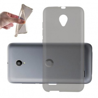 Cadorabo Hülle für Vodafone Smart PRIME 6 in TRANSPARENT SCHWARZ - Handyhülle aus flexiblem TPU Silikon - Silikonhülle Schutzhülle Ultra Slim Soft Back Cover Case Bumper
