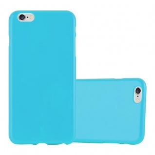 Cadorabo Hülle für Apple iPhone 6 PLUS / iPhone 6S PLUS in JELLY HELL BLAU ? Handyhülle aus flexiblem TPU Silikon ? Silikonhülle Schutzhülle Ultra Slim Soft Back Cover Case Bumper