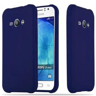 Cadorabo Hülle für Samsung Galaxy J1 ACE in CANDY DUNKEL BLAU - Handyhülle aus flexiblem TPU Silikon - Silikonhülle Schutzhülle Ultra Slim Soft Back Cover Case Bumper