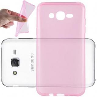 Cadorabo Hülle für Samsung Galaxy J7 2015 in TRANSPARENT PINK - Handyhülle aus flexiblem TPU Silikon - Silikonhülle Schutzhülle Ultra Slim Soft Back Cover Case Bumper