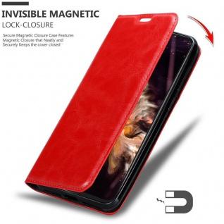 Cadorabo Hülle für Cubot P20 in APFEL ROT Handyhülle mit Magnetverschluss, Standfunktion und Kartenfach Case Cover Schutzhülle Etui Tasche Book Klapp Style - Vorschau 3