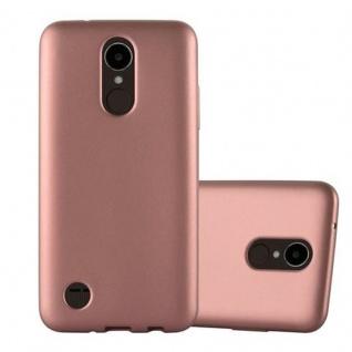 Cadorabo Hülle für LG K4 2017 in METALLIC ROSE GOLD Handyhülle aus flexiblem TPU Silikon Silikonhülle Schutzhülle Ultra Slim Soft Back Cover Case Bumper