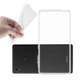 Cadorabo Hülle für Sony Xperia M4 AQUA in VOLL TRANSPARENT - Handyhülle aus flexiblem TPU Silikon - Silikonhülle Schutzhülle Ultra Slim Soft Back Cover Case Bumper