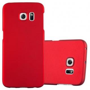 Cadorabo Hülle für Samsung Galaxy S6 EDGE in METALL ROT ? Hardcase Handyhülle aus Plastik gegen Kratzer und Stöße ? Schutzhülle Bumper Ultra Slim Back Case Hard Cover