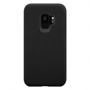 Cadorabo Hülle für Samsung Galaxy S9 in DAHLIEN SCHWARZ ? Outdoor Handyhülle mit extra Grip Anti Rutsch Oberfläche im Triangle Design aus Silikon und Kunststoff - Schutzhülle Hybrid Hardcase Back Case - Vorschau 3