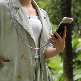 Cadorabo Handy Kette für LG K10 2016 in UNICORN Silikon Necklace Umhänge Hülle mit Gold Ringen, Kordel Band Schnur und abnehmbarem Etui Schutzhülle - Vorschau 4