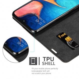 Cadorabo Hülle für Samsung Galaxy A20e in KAFFEE BRAUN - Handyhülle mit Magnetverschluss, Standfunktion und Kartenfach - Case Cover Schutzhülle Etui Tasche Book Klapp Style - Vorschau 2