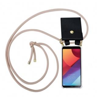 Cadorabo Handy Kette für LG G6 in PERLIG ROSÉGOLD - Silikon Necklace Umhänge Hülle mit Gold Ringen, Kordel Band Schnur und abnehmbarem Etui ? Schutzhülle