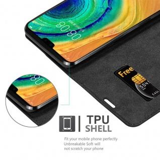 Cadorabo Hülle für Huawei MATE 30 in NACHT SCHWARZ - Handyhülle mit Magnetverschluss, Standfunktion und Kartenfach - Case Cover Schutzhülle Etui Tasche Book Klapp Style - Vorschau 4