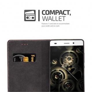 Cadorabo Hülle für Huawei P8 LITE 2015 in GOLD SCHWARZ - Handyhülle mit Magnetverschluss, Standfunktion und Kartenfach - Case Cover Schutzhülle Etui Tasche Book Klapp Style - Vorschau 3