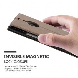 Cadorabo Hülle für Nokia Lumia 1520 in KAFFEE BRAUN - Handyhülle mit Magnetverschluss, Standfunktion und Kartenfach - Case Cover Schutzhülle Etui Tasche Book Klapp Style - Vorschau 4