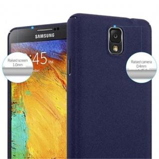 Cadorabo Hülle für Samsung Galaxy NOTE 3 in FROSTY BLAU - Hardcase Handyhülle aus Plastik gegen Kratzer und Stöße - Schutzhülle Bumper Ultra Slim Back Case Hard Cover - Vorschau 5