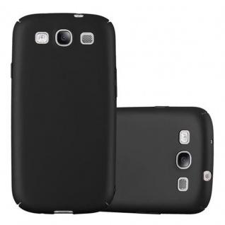 Cadorabo Hülle für Samsung Galaxy S3 / S3 NEO in METALL SCHWARZ Hardcase Handyhülle aus Plastik gegen Kratzer und Stöße Schutzhülle Bumper Ultra Slim Back Case Hard Cover