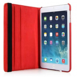 Cadorabo - Apple iPad AIR (5. Generation) Schutzhülle im Book Style mit 360° Standfunktion - Case Cover Bumper in KIRSCHEN ROT