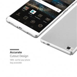 Cadorabo Hülle für Huawei P8 in METALL SILBER - Hardcase Handyhülle aus Plastik gegen Kratzer und Stöße - Schutzhülle Bumper Ultra Slim Back Case Hard Cover - Vorschau 3
