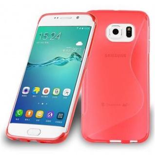Cadorabo Hülle für Samsung Galaxy S6 EDGE PLUS in INFERNO ROT ? Handyhülle aus flexiblem TPU Silikon ? Silikonhülle Schutzhülle Ultra Slim Soft Back Cover Case Bumper