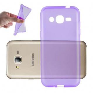 Cadorabo Hülle für Samsung Galaxy J2 2015 in TRANSPARENT LILA - Handyhülle aus flexiblem TPU Silikon - Silikonhülle Schutzhülle Ultra Slim Soft Back Cover Case Bumper