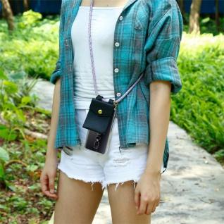 Cadorabo Handy Kette für OnePlus 6 in UNICORN Silikon Necklace Umhänge Hülle mit Gold Ringen, Kordel Band Schnur und abnehmbarem Etui Schutzhülle - Vorschau 5