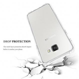 Cadorabo Hülle für Samsung Galaxy A7 2016 (6) - Hülle in KOMPLETT TRANSPARENT - Handyhülle aus TPU Silikon mit Schlaufe im Small Waist Design - Silikonhülle Schutzhülle Ultra Slim Soft Back Cover Case Bumper - Vorschau 5