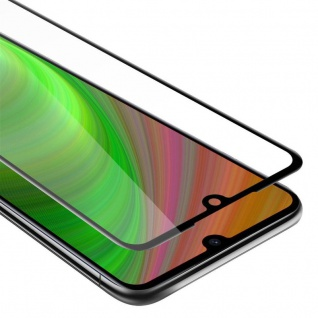 Cadorabo Vollbild Panzer Folie für Xiaomi RedMi NOTE 7 - Schutzfolie in TRANSPARENT mit SCHWARZ - Gehärtetes (Tempered) Display-Schutzglas in 9H Härte mit 3D Touch Kompatibilität