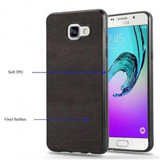 Cadorabo Hülle für Samsung Galaxy A3 2016 in WOODEN SCHWARZ ? Handyhülle aus flexiblem TPU Silikon ? Silikonhülle Schutzhülle Ultra Slim Soft Back Cover Case Bumper - Vorschau 4