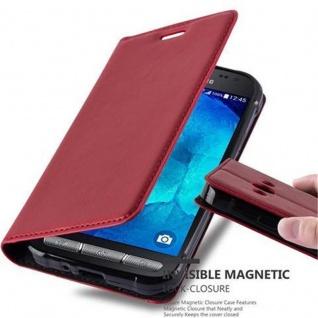Cadorabo Hülle für Samsung Galaxy XCover 3 in APFEL ROT - Handyhülle mit Magnetverschluss, Standfunktion und Kartenfach - Case Cover Schutzhülle Etui Tasche Book Klapp Style