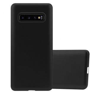 Cadorabo Hülle für Samsung Galaxy S10 in METALLIC SCHWARZ - Handyhülle aus flexiblem TPU Silikon - Silikonhülle Schutzhülle Ultra Slim Soft Back Cover Case Bumper