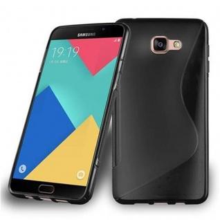Cadorabo Hülle für Samsung Galaxy A9 2015 in OXID SCHWARZ - Handyhülle aus flexiblem TPU Silikon - Silikonhülle Schutzhülle Ultra Slim Soft Back Cover Case Bumper