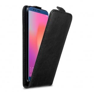 Cadorabo Hülle für Honor 10 LITE in NACHT SCHWARZ Handyhülle mit Magnetverschluss, Standfunktion und Kartenfach Case Cover Schutzhülle Etui Tasche Book Klapp Style