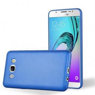Cadorabo Hülle für Samsung Galaxy J7 2016 in METALLIC BLAU - Handyhülle aus flexiblem TPU Silikon - Silikonhülle Schutzhülle Ultra Slim Soft Back Cover Case Bumper