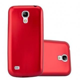 Cadorabo Hülle für Samsung Galaxy S4 in METALLIC ROT - Handyhülle aus flexiblem TPU Silikon - Silikonhülle Schutzhülle Ultra Slim Soft Back Cover Case Bumper