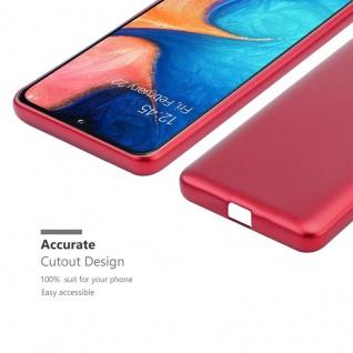 Cadorabo Hülle für Samsung Galaxy A20e in METALLIC ROT - Handyhülle aus flexiblem TPU Silikon - Silikonhülle Schutzhülle Ultra Slim Soft Back Cover Case Bumper - Vorschau 5